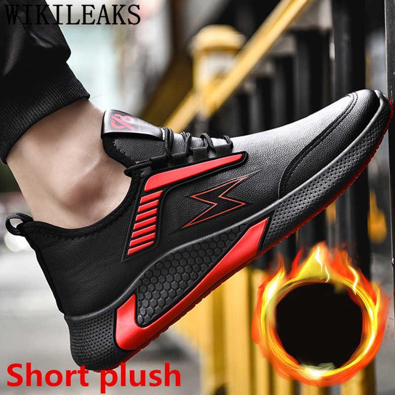 Zapatos de cuero para Hombre Zapatos casuales de gran oferta zapatillas de invierno para Hombre Zapatos de diseñador para mujer de lujo zapatillas de cuero de moda ayakkabi