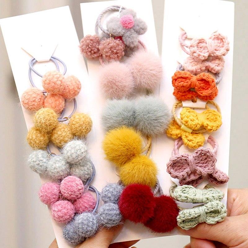 2021 Cartoon Blume Prinzessin Scrunchies Kinder Geschenke Mädchen Elastische Haar Gummi Bands Zubehör Krawatte Haar Ring Seil Kopfschmuck
