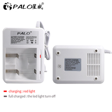 2 gniazda wyświetlacz LED inteligentna ładowarka do akumulatora do ni mh ni mh Nimh Nicd AA/AAA/C/D akumulator