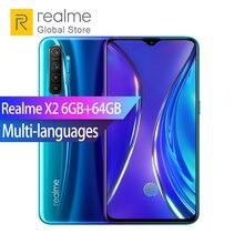 "Realme X2 6GB RAM 64GB ROM Snapdragon 730G Octa Core 6.4"" 64MP Rear Camera Full Screen Smartphone 30W VOOC Fast Charger 4000mAh"