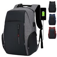 Mochila impermeable para ordenador portátil de 16 y 17 pulgadas para hombre y mujer, bolsa de viaje escolar con USB, antirrobo, 15,6