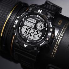 SYNOKE мужские спортивные модные цифровые часы светодиодный спортивные мужские часы с датой наружные водонепроницаемые электронные мужские часы наручные часы