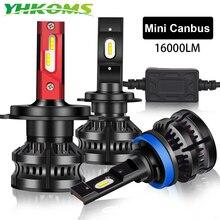 YHKOMS 2 sztuk 16000LM H4 H7 LED Canbus H8 H9 H11 9005 9006 9012 samochodów reflektorów LED lampa samochodowa światła przeciwmgielne akcesoria samochodowe 12V 6000K