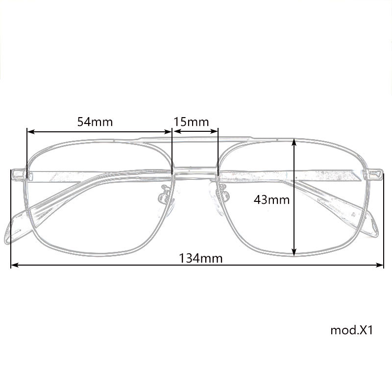 Image 5 - Classic rectangle spectacles titanium glasses frames for men and women gold/silver/black/greyMens Eyewear Frames   -