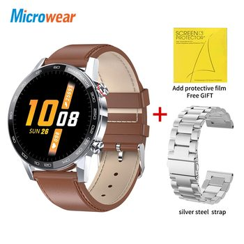 Microwear L16 Smart Watch Men Sports Fitness Tracker IP68 Waterproof Heart Rate Monitor Android IOS Full Touch Screen Smartwatch 20