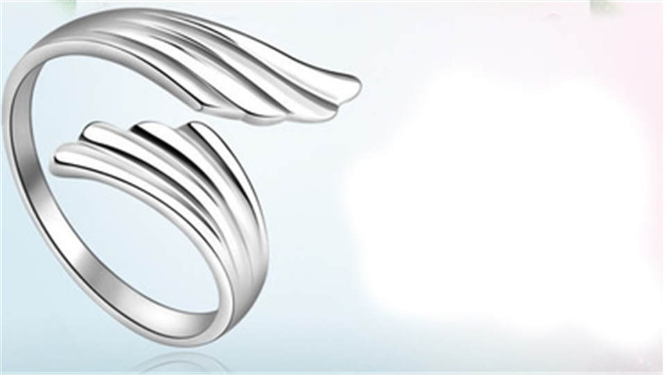 e PISSENLIT Simple Adjustable Silver Ring Wing Ring Women Jewelry New Korean Trendy Wing Wedding Rings For Women Accessories Gifts