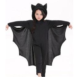 Umorden Halloween Purim Carnival Party Costume Kids Children Black Bat Vampire Costumes for Boy Girl Fantasia Cosplay Jumpsuit