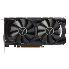 Yeston RX 560 D RX560D 4G D5 Gaea Kartu Grafis Video Kartu Dual Fan Cooling 4GB Memori GDDR5 128bit DP + HD + DVI-D GPU Heatsink(China)