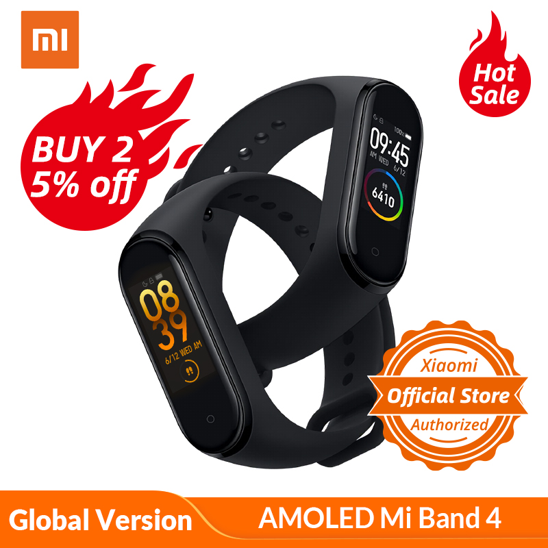Global Version Xiaomi Mi Band 4 reloj inteligente ritmo cardíaco actividad rastreador pulsera pantalla colorida banda inteligente 135 mAh