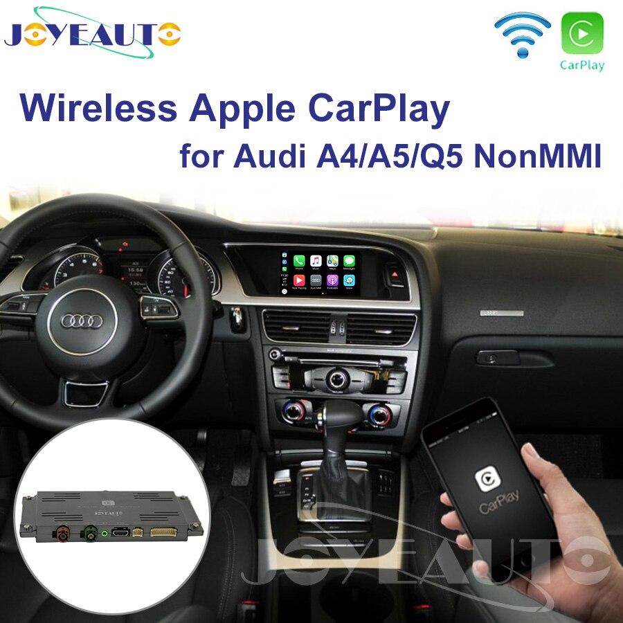 Joyeauto sans fil iOS/Android Carplay rénovation 2009-2015 A4 A5 Q5 S5 B8 Non MMI pour Audi voiture jouer Android Auto avec Waze Spotify