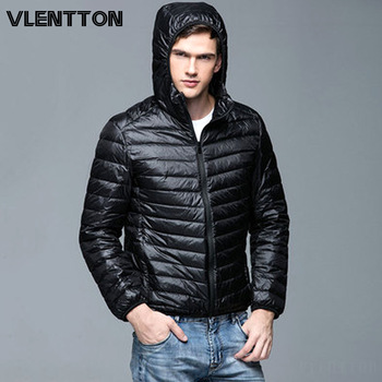 Autumn Winter Light Thin Warm 90% White Duck Down Jackets Men Solid Zipper Hooded Jacket Coat Casual Parka Outwear Plus Size 5XL new winter outdoor trekking white duck down jacket men hooded outwear duck down coat breathable hiking camping sports jackets