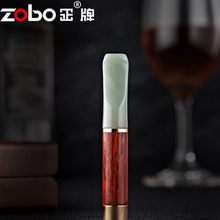 High-grade Jade Sandalwood Pipe Filter Smoking Pipes Portable Tobacco Pipes Gifts Smoke Mouthpiece Cigarette Holder FilterLFB235