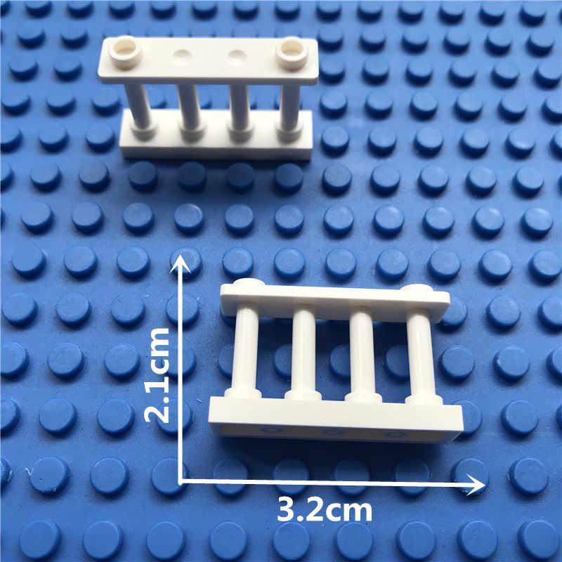 Città giardino di casa recinzione Accessori Building Blocks Creativo Guardrail Parti in legno ringhiera Finestre Porta MOC Mattoni Amici Giocattoli