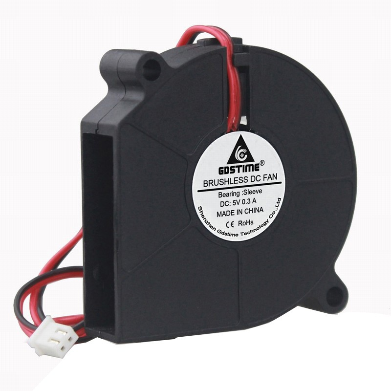 Gdstime 1 piece <font><b>60mm</b></font> Blower <font><b>Fan</b></font> <font><b>5V</b></font> 60x15mm 6015s 2Pin DC Brushless Small Centrifugal Cooler for Computer PC Cooling image
