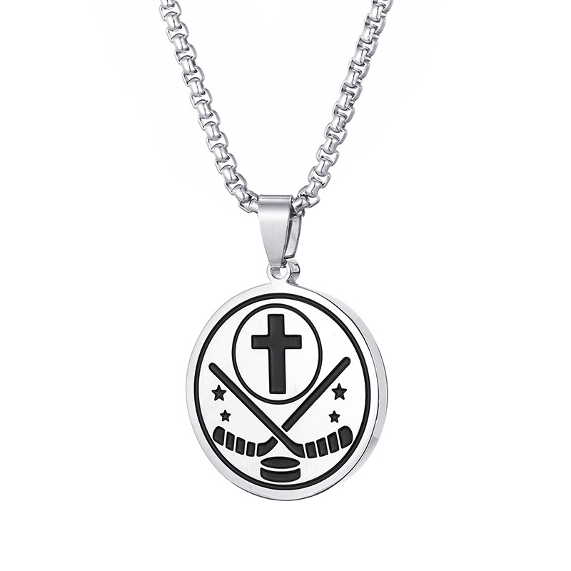 Hockey Fan Gift Luke 1:37 Athletes Necklace Crafted In Stainless Steel  RLLER Hockey Souvenir