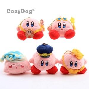 8-10 cm Cute Kirby Plush Toys Doll Keychain Anime Kawaii Kirby Plush Toys Doll Peluche Baby Kids Christmas Birthday Gift