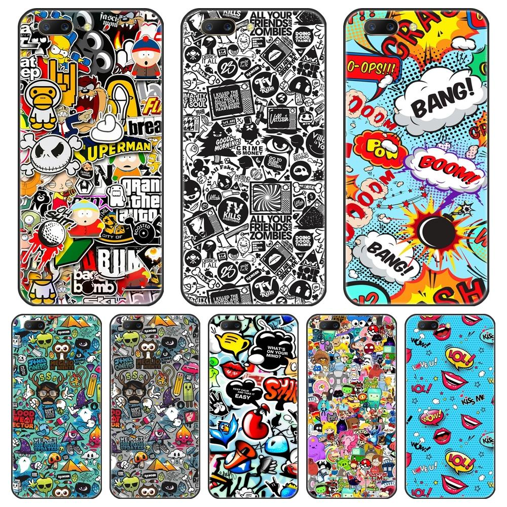 Soft Phone <font><b>Case</b></font> For One Plus 3 3T 5 5T <font><b>6</b></font> 6T 7 7 Pro Silicone <font><b>Anime</b></font> Graffiti Bomb Back Cover For <font><b>OnePlus</b></font> 7 7 Pro <font><b>6</b></font> 6T 5 5T 3 3T image