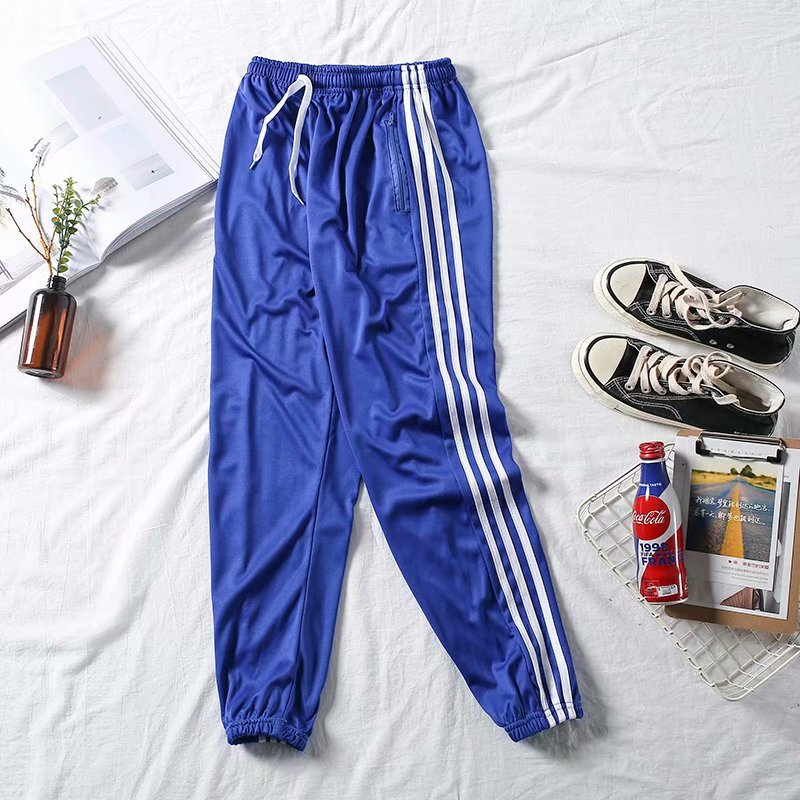 Spring And Summer Europe And America Popular Brand Three Bars Men And Women Couples Athletic Pants Korean-style Casual Sweatpant