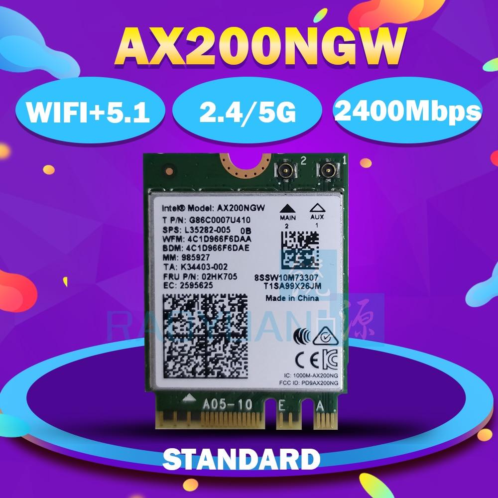 Dual Band Wireless AX200NGW 2.4Gbps 802.11ax Wireless Intel Wi-Fi 6 AX200 / AX201NGW / 8265NGW /3168AC M.2 NGFF WiFi Wlan Card(China)