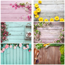 Yeele Gray Wooden Board Flower Baby Doll Food Photography Backdrops Photographic Backgrounds For Photo Studio Photophone For Pet