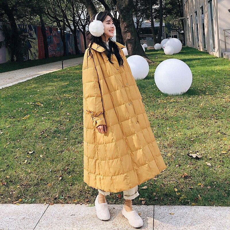 Winter Women Coat 2019 Women Down Parka Casual Outwear Female Loose Long Down Coat White Duck Down Jackets Winter Jacket Women