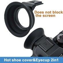 Eyecup monturas para ocular de cámara de forma fácil y segura a través de la zapata caliente Eyecup para Fujifilm X T20 X T10 para Fuji XT20 XT10 XT30