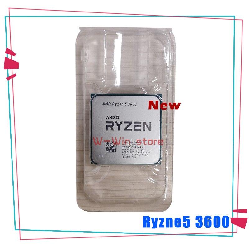 Новый процессор AMD Ryzen 5 3600 R5 3600 3,6 ГГц шестиядерный двенадцатипоточный процессор 7 нм 65 Вт L3 = 32M 100-000000031 разъем AM4