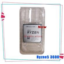 Nowy AMD Ryzen 5 3600 R5 3600 3.6 GHz sześciordzeniowy dwunastogwintowy procesor CPU 7NM 65W L3 = 32M 100 000000031 gniazdo AM4