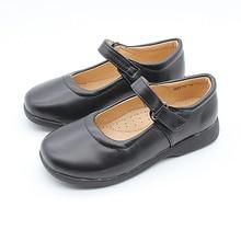 Girls Kids Flat Black Slip-on School Smart Dolly Ballet Shoes