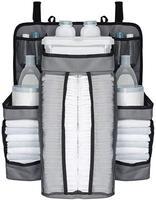 Multiuso berço cama do bebê pendurado saco portátil à prova dportable água fraldas organizador de cabeceira cama amortecedor berço saco acessórios da cama|Bolsas de armazenamento dobráveis| |  -