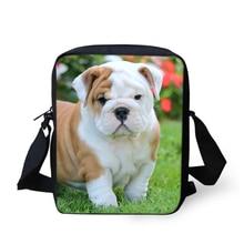 HaoYun Fashion Women Messenger Bags Cute Bulldogs Animal Prints Pattern Shoulder Girls Flaps Handbags Kids Mini Mochila