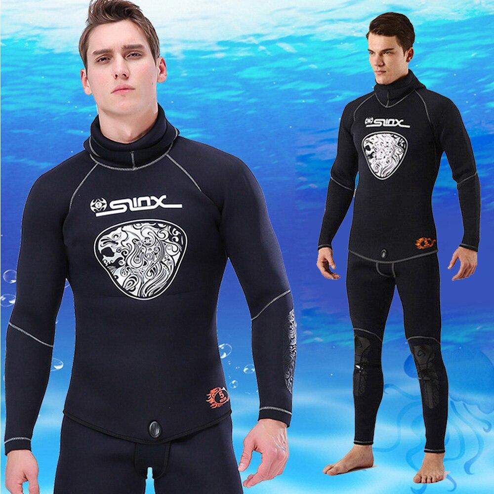 High Quality 5MM Neoprene Hood Wetsuits For Men Scuba Dive Equipment Spearfishing Warm Winter Swim Wet Suit Anti-UV