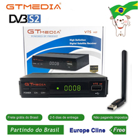 Hot DVB S2 Freesat V7 hd With USB WIFI FTA TV Receiver gtmedia v7s hd power by freesat Support Europe line Network Sharing By BR