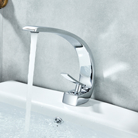 Vidric Chrome Orange Basin Faucets Modern Bathroom Mixer Tap Brass Washbasin Faucet Single Handle Single Hole Elegant Crane Tap