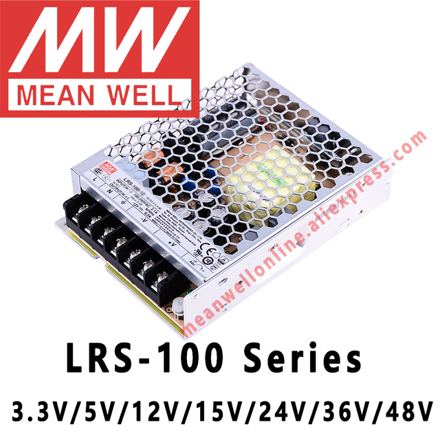 Mean Well LRS 100 3,3 V 5V 12V 15V 24V 36V 48V schalt Netzteil meanwell AC/DC 100W einzigen ausgang