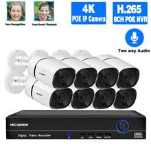 Система видеонаблюдения h265 8 каналов Мп poe nvr 5 МП две ai
