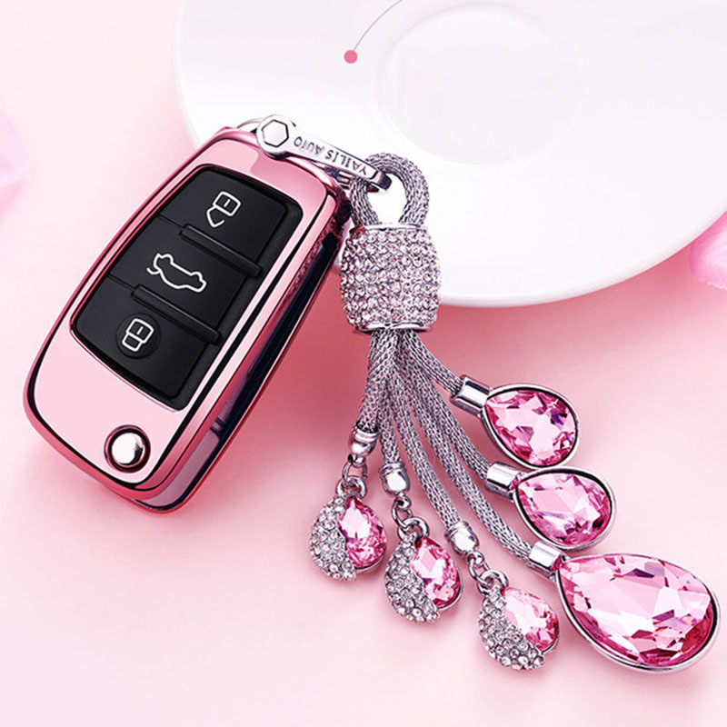 Key-Case Keychain Remote-Cover Car-Holder Car-Styling A6 C5 Audi A1 Auto Q7 TPU Soft title=