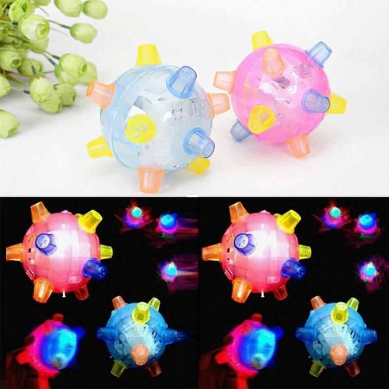 Creative Kids Luminous Dancing Ball Toy Hand-eye Coordination Hand Flexibility Jumping Music Sound Toys Random Color