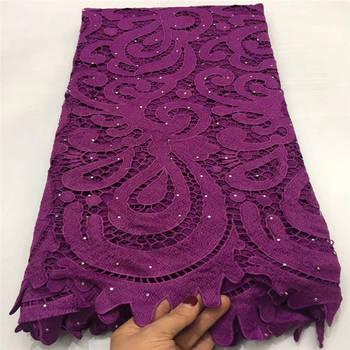 French Nigerian Lace Fabrics High Quality Tulle African Laces Fabric Embroidered Stones Tulle Mesh Fabric For Party Dress N2718