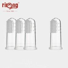Детская зубная щетка Rikang, 3 шт., силиконовая щетка, Детские принадлежности, Детская щетка для чистки молочных зубов, бесплатная доставка