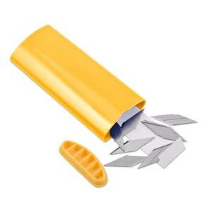 Image 4 - EHDIS Professional Trash Blades Disposer Pocket For 30 Degree Steel Snap Off Baldes Knife Paper Film Vinyl Cutter Tools Storage