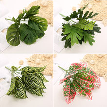 Plantas artificiais eucalipto grama samambaias de plástico folhas verdes falso planta flor casamento decoração para casa decorações de mesa
