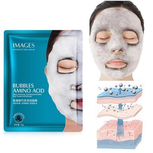Oxygen Bubble Sheet Mask Korean Cosmetic Moisturizing Bamboo Charcoal Black Face Mask Whitening Skin Care High Quality 2