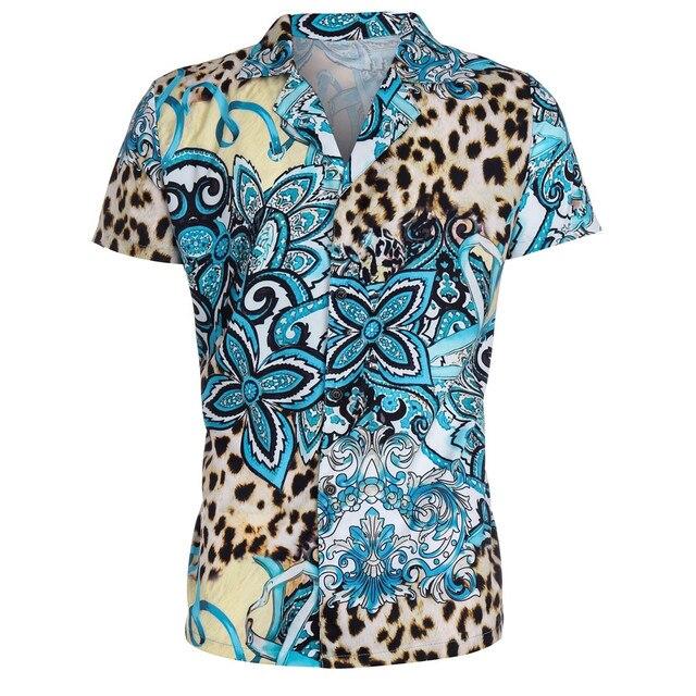 Ανδρικό εμπριμέ κοντομάνικο πουκάμισο
