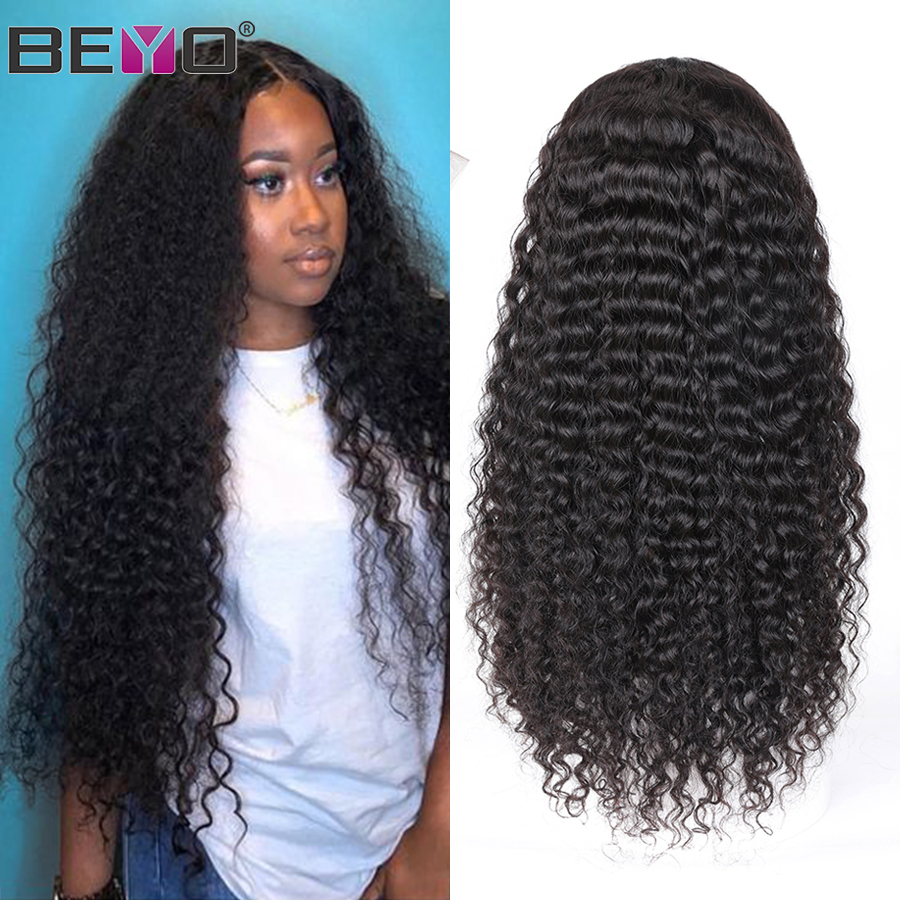 Indian Water Wave Wig 360 Lace Frontal Wig Pre Plucked With Baby Hair 13X6 Curly Lace Front Human Hair Wigs For Black Women Remy