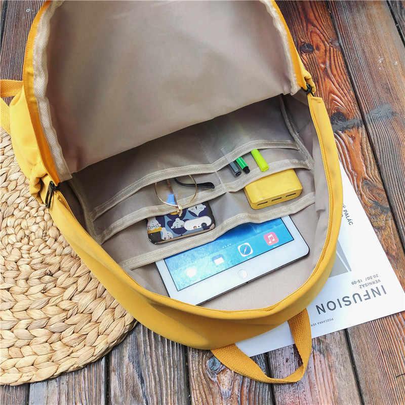 HOCODO solidny kolorowy plecak dla kobiet 2019 wodoodporny Nylon kilka kieszeni plecaki podróżne o dużej pojemności tornister dla nastoletnich