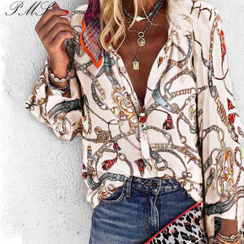 Women Long sleeve Blouses Vintage Floral Blouse Sleeve Shirt Camisas Femininas Female Tops Fashion D35