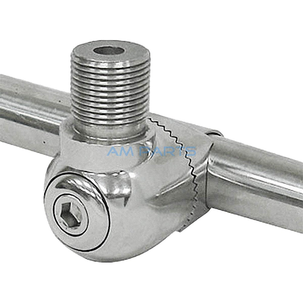 Stainless Steel Marine Antenna Mount Bracket For Rail Mounting Fits 7/8-1