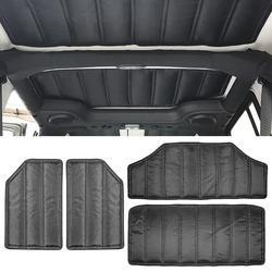 for 2-Door/4-Door for Jeep Wrangler JK 12-17 Hardtop Sound Deadener Thick Durable Headliner Hinges Heat Insulation insulation