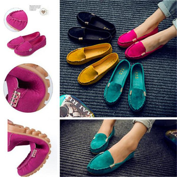 Women Shoes 2020 Spring Autumn Flats Shoes Cow Suede Soft Round Toe Black Flat Slips Women's Shoes Female Casual Flat Loafers